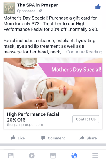Image result for spa facebook ads
